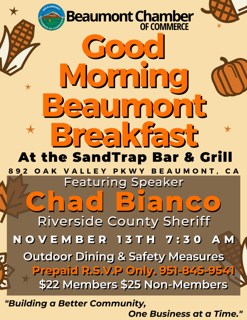 Good Morning Beaumont @ Sand Trap Bar & Grill | Beaumont | California | United States