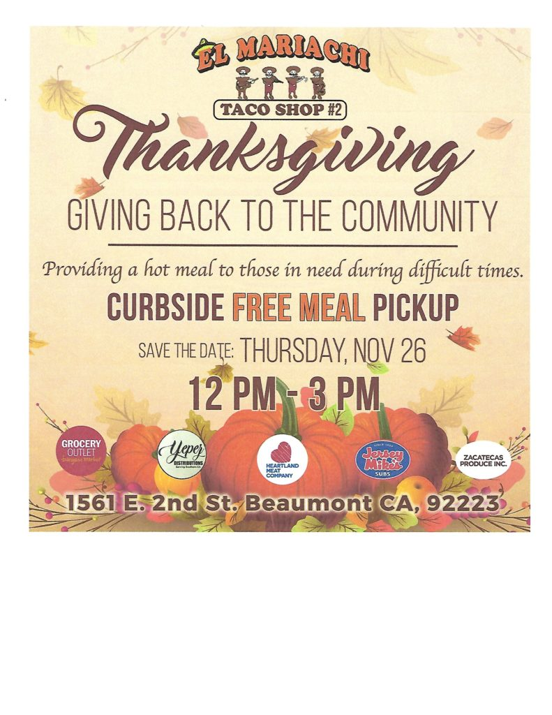 Thanksgiving Meal @ El Mariachi #2   Beaumont   California   United States