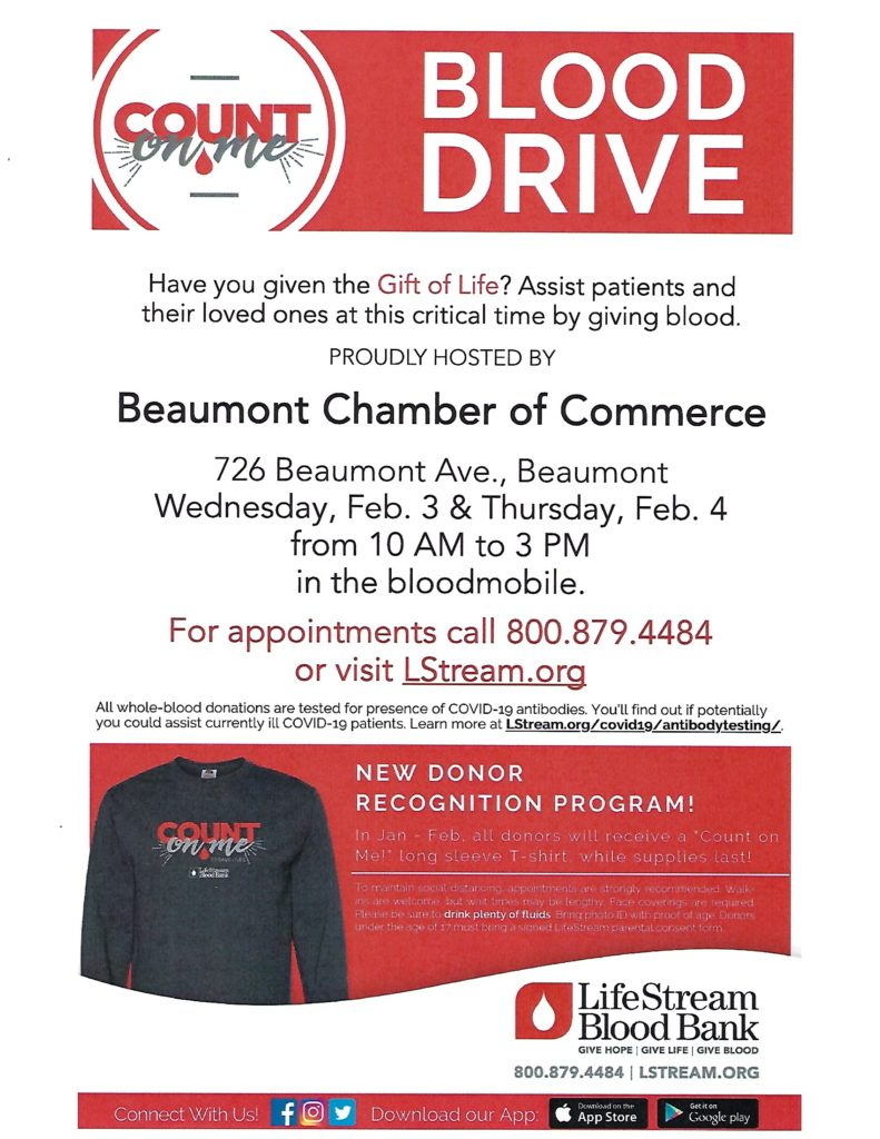 Blood Drive @ Beaumont Chamber of Commerce | Beaumont | California | United States