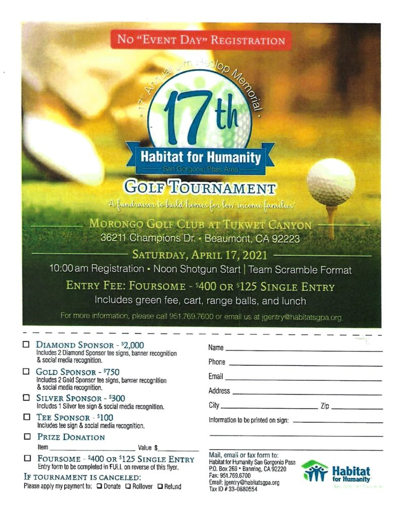 Golf Tournament @ Morongo Golf Club @ Tukwet Canyon | Beaumont | California | United States