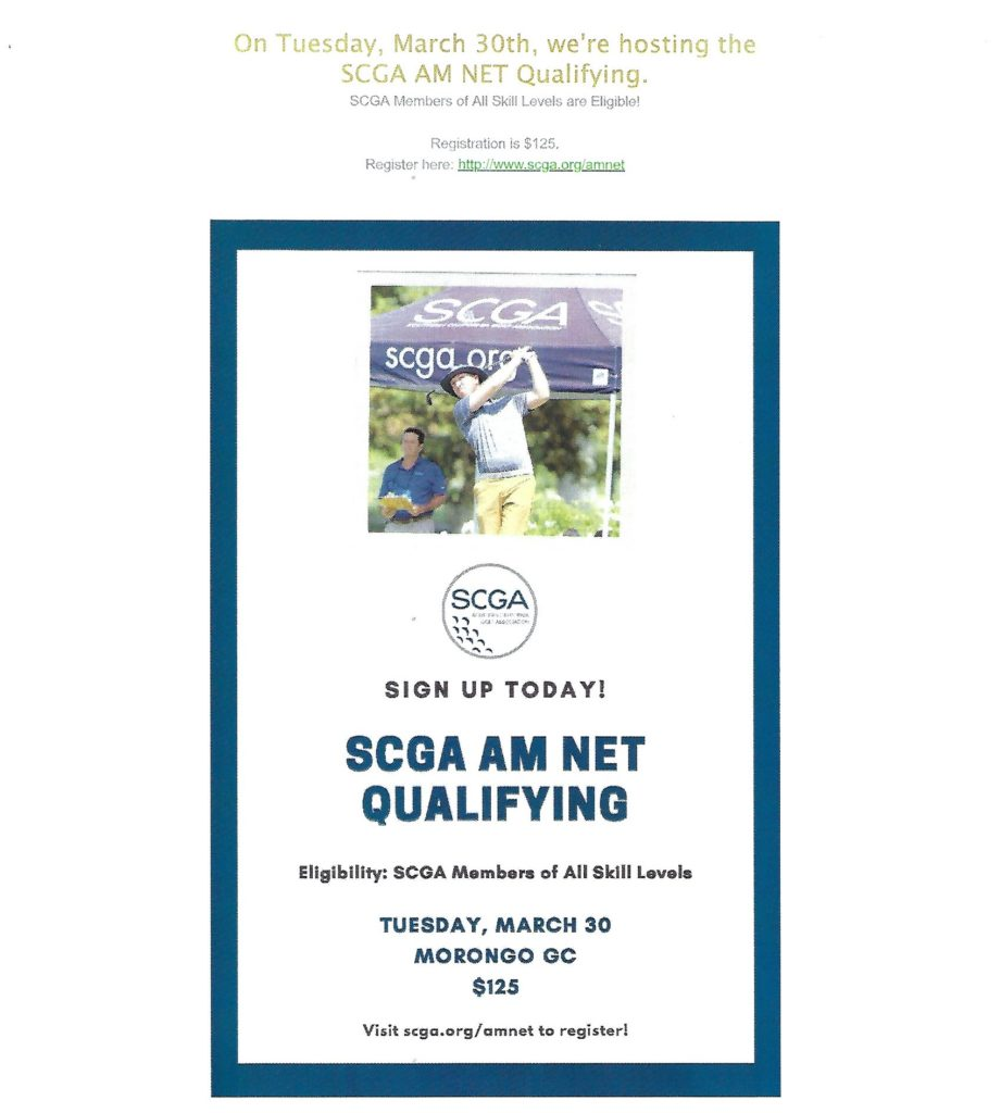 SCGA AM NET Qualifying @ Morongo Golf Club @ Tukwet Canyon | Beaumont | California | United States