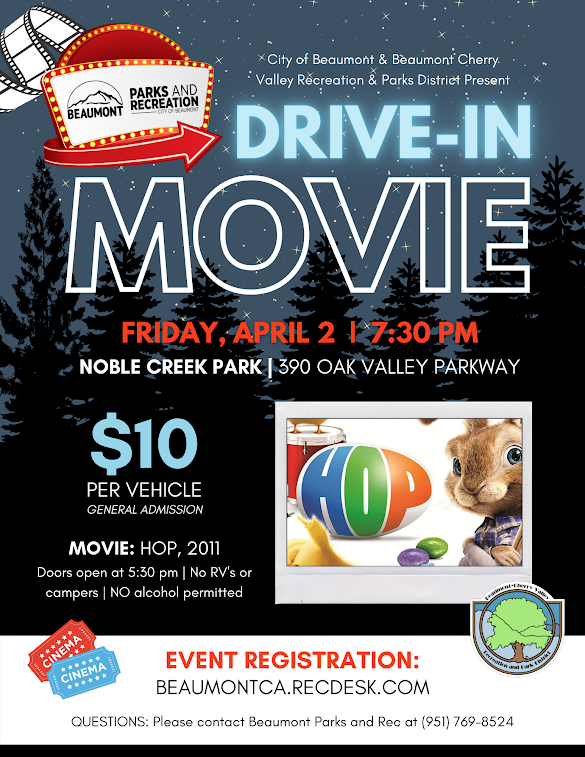 Drive-In Movie @ Noble Creek Park | Beaumont | California | United States