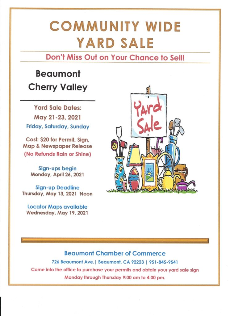 Community Yard Sale @ City of Beaumont | Beaumont | California | United States