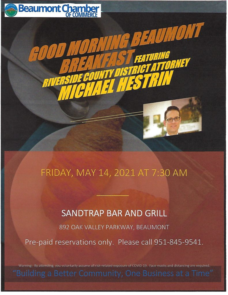 Good Morning Beaumont Breakfast @ SandTrap Bar & Grill | Beaumont | California | United States