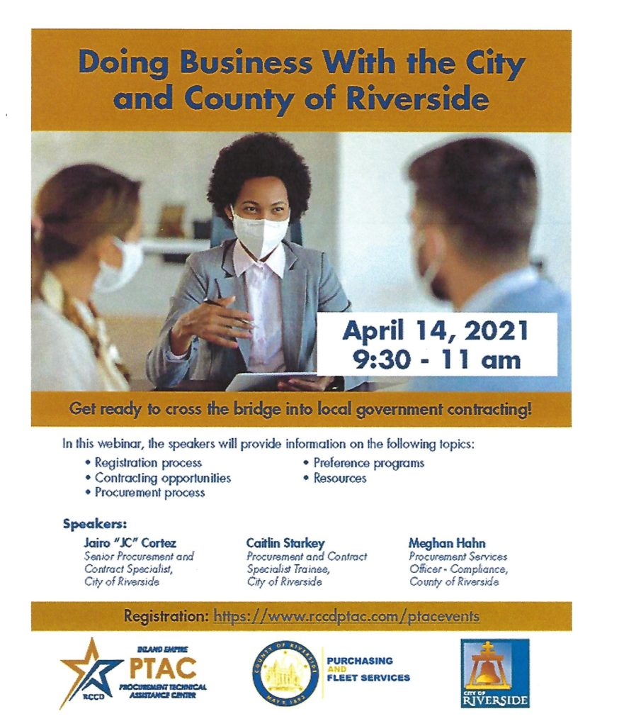 Webinar Riv. County @ https://www.rccdptac.com/ptacevents | California | United States