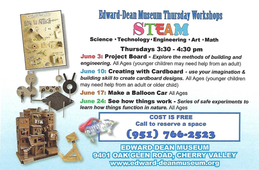 STEAM Workshop @ Edward-Dean Museum | Cherry Valley | California | United States