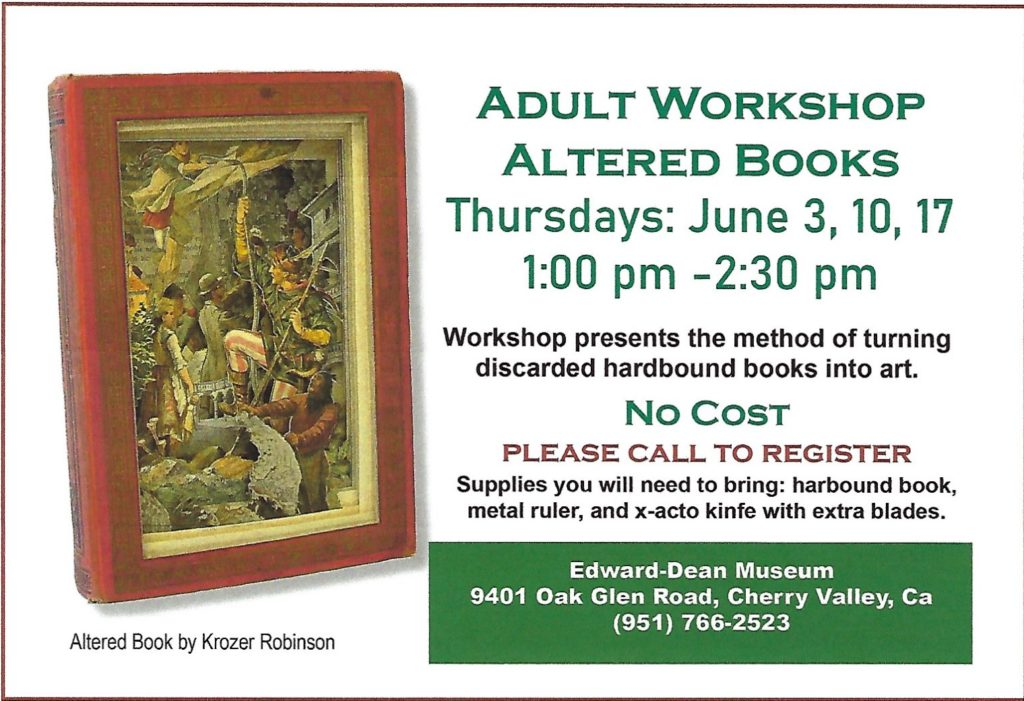 Altered Books Workshop @ Edward-Dean Museum | Cherry Valley | California | United States