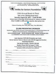 Smiles for Seniors Foundation Bowl-A-Thon @ Canyon Lanes Morongo | Cabazon | California | United States