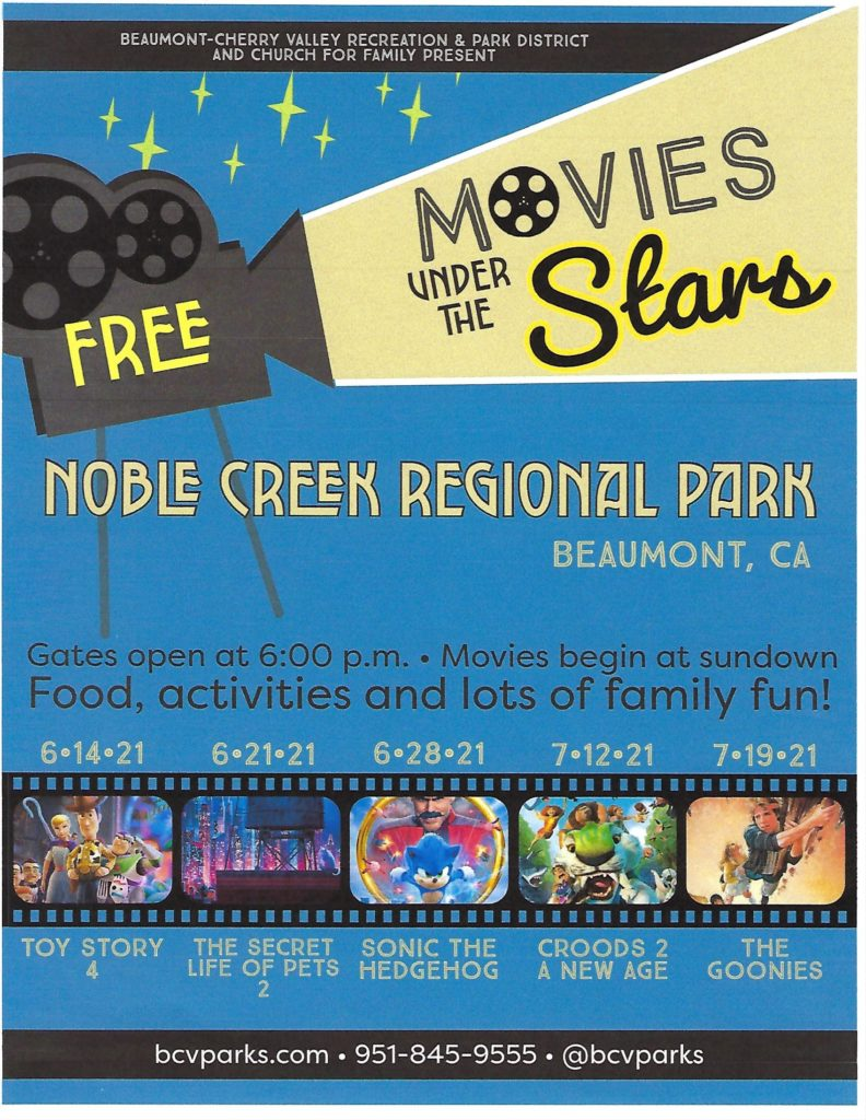 Movies Under the Stars @ Noble Creek Regional Park | Beaumont | California | United States