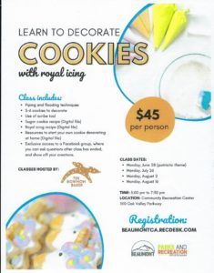 Learn to decorate cookies!!! @ Community Recreation Center | Beaumont | California | United States