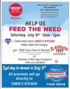 Help Grocery Outlet feed the need! @ Grocery Outlet | Beaumont | California | United States