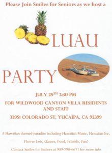 Luau Party!! @ Smiles for Seniors | Yucaipa | California | United States