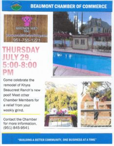 Beaumont Chamber Mixer!! @ Khyra Beaucrest Ranch | Cherry Valley | California | United States