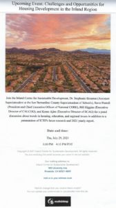 Upcoming Events: Inland Region @ Inland Center for Sustainable Development | Riverside | California | United States