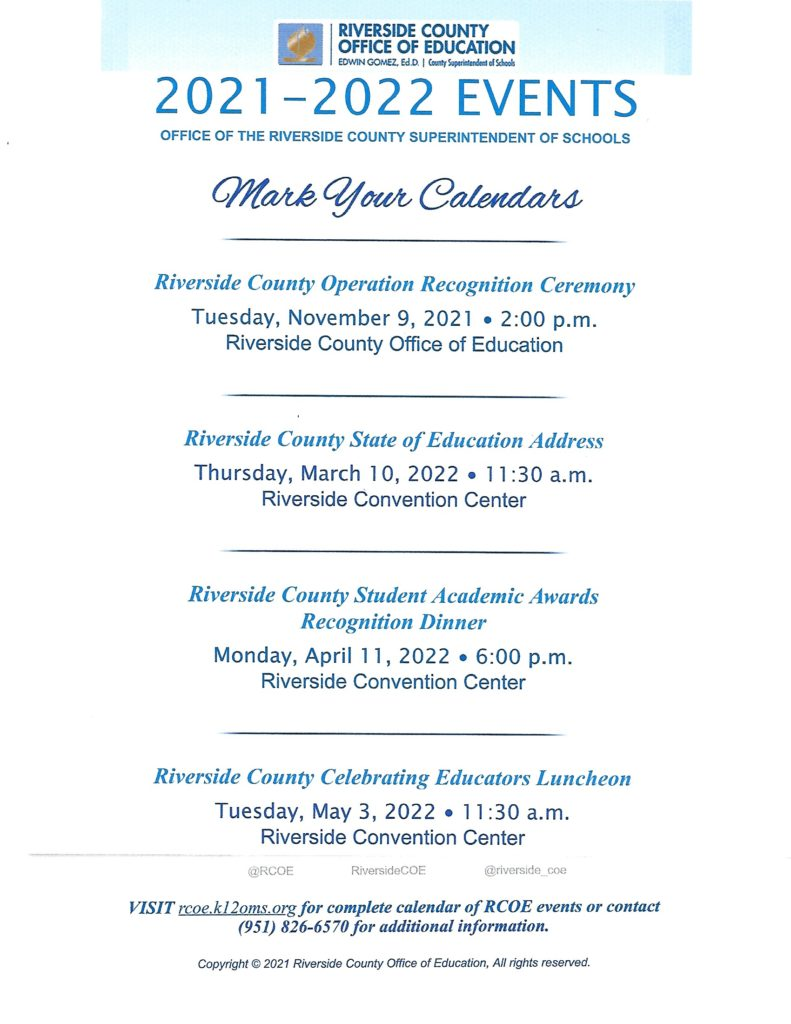 RivCo Operation Recognition @ Riverside County Office of Education | California | United States