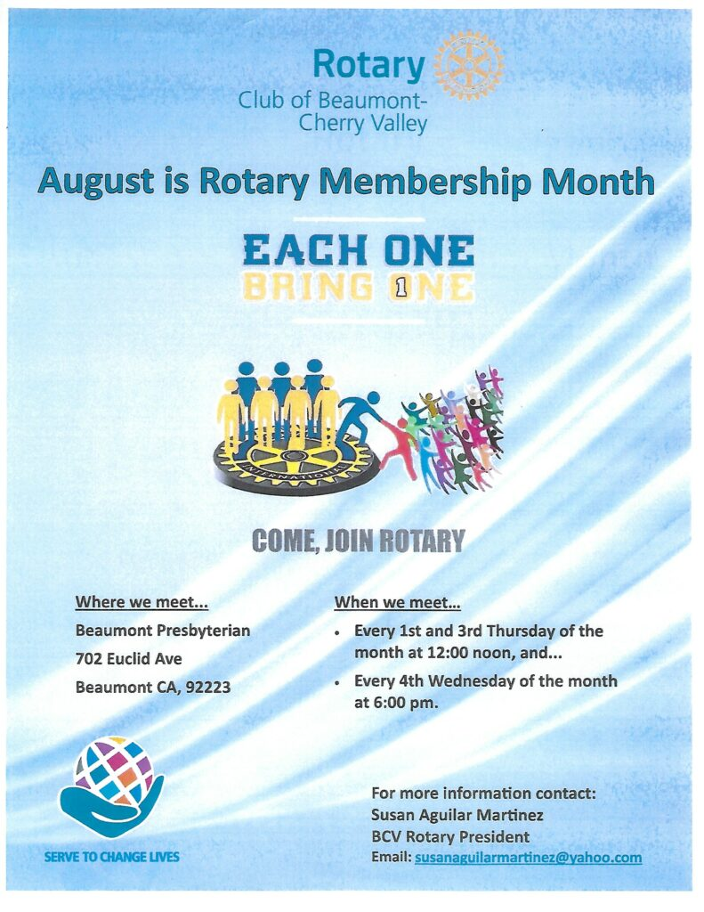 Rotary Meeting @ Beaumont Presbyterian Church | Beaumont | California | United States