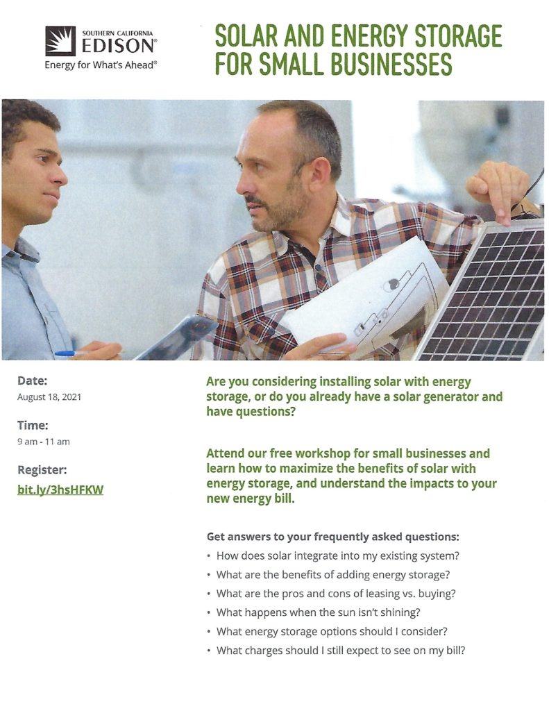 SCE Solar Class @ Online   Beaumont   California   United States