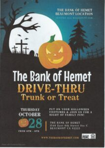 Drive-Thru Trunk or Treat @ The Bank of Hemet | Beaumont | California | United States