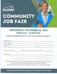 Job Fair @ Community Recreation Center | Beaumont | California | United States