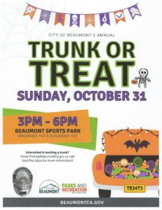 Trunk or Treat @ Beaumont Sports Park | Beaumont | California | United States