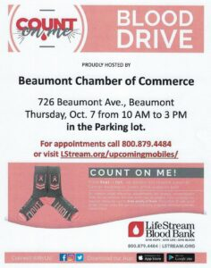 Blood Drive @ Beaumont Chamber parking lot. | Beaumont | California | United States