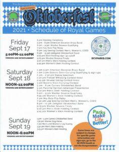 Oktoberfest Royal Game Schedule. @ Noble Creak Regional Park