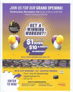 Planet Fitness Re-opening @ Planet Fitness