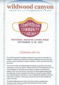 Wildwood Canyon is celebrating National Assisted Living Week!! @ Wildwood Canyon