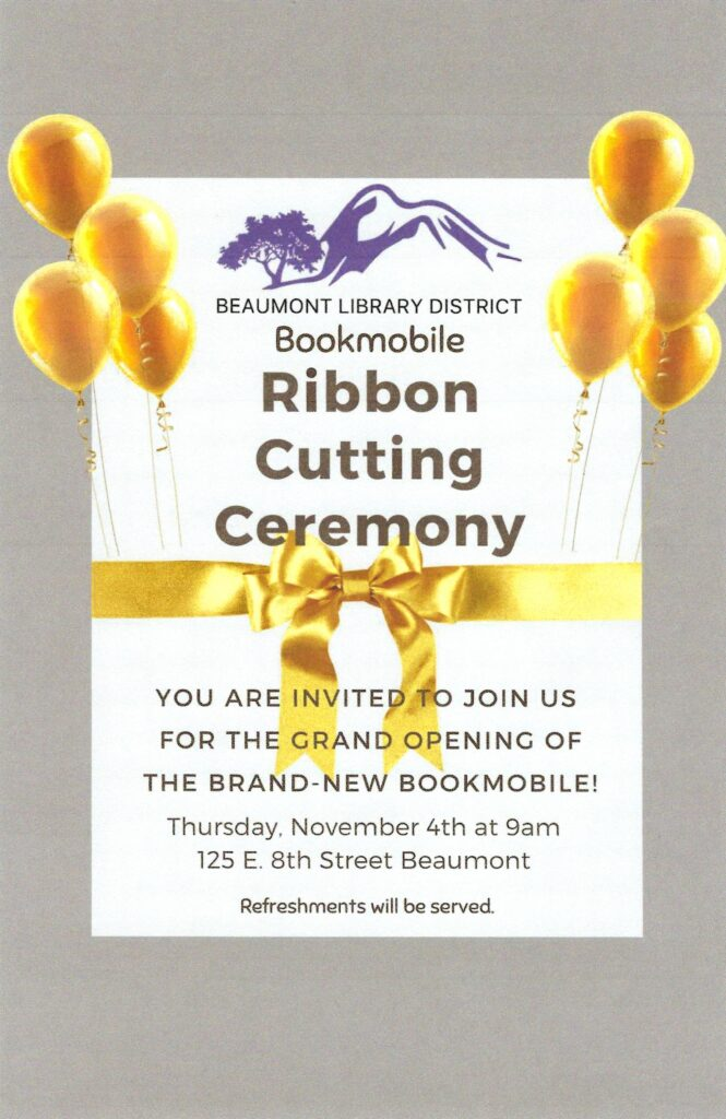 Bookmobile Ribbon Cutting @ Beaumont Library | Beaumont | California | United States