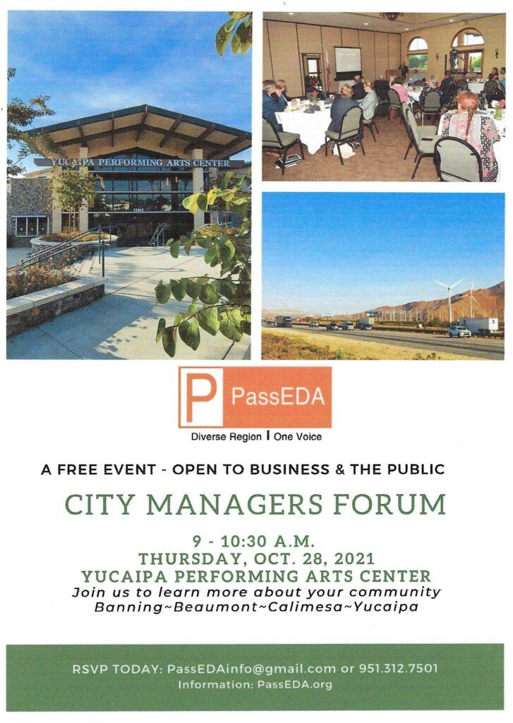 City Managers Forum @ Yucaipa Performing Arts Center | Yucaipa | California | United States