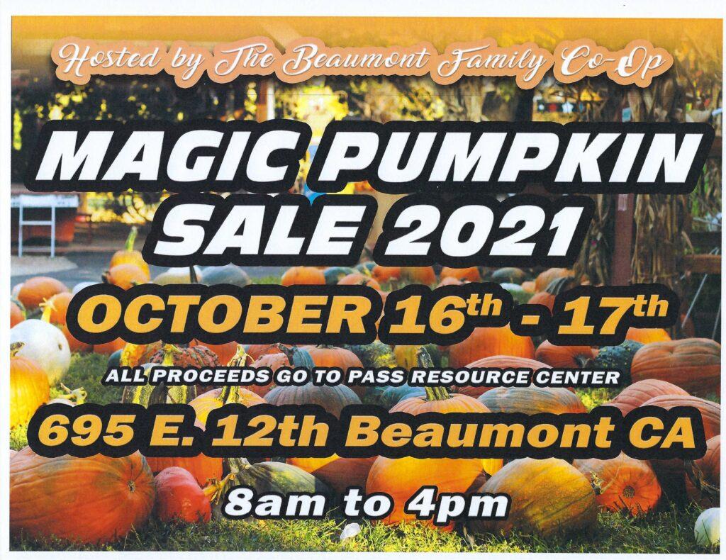 Magic Pumpkin Sale @ Beaumont Family Co-op | Beaumont | California | United States