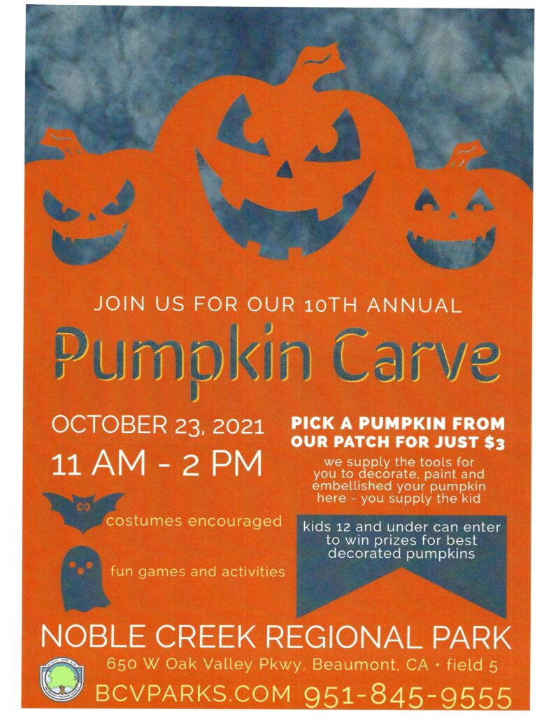 Pumpkin Carve @ Noble Creek Regional Park | Beaumont | California | United States