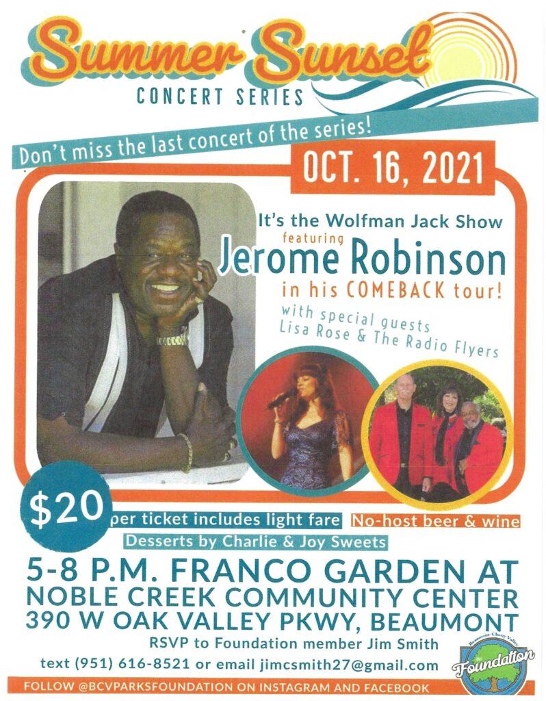 Jerome Robinson Concert @ Noble Creek Community Center   Beaumont   California   United States