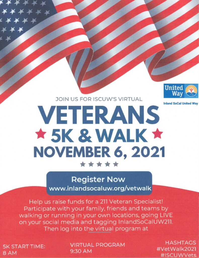 Veterans 5K Walk @ Virtual | Beaumont | California | United States