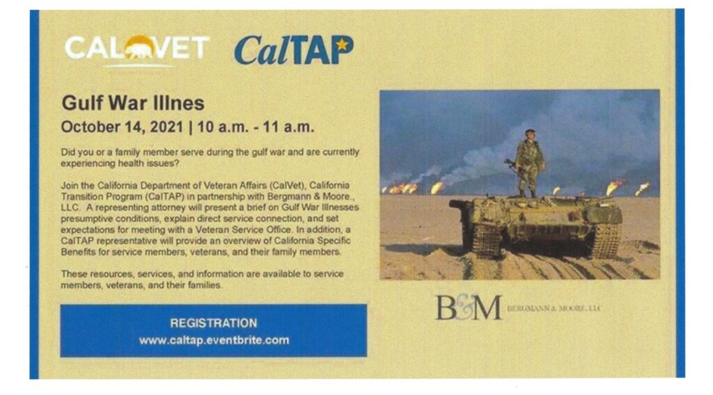 Gulf War Illness Webinar @ Beaumont, CA   Beaumont   California   United States