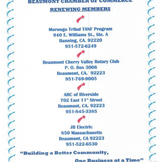 Thank you renewing members!