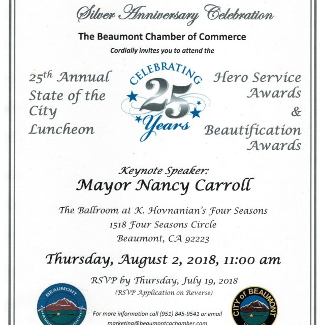 ANNUAL STATE OF THE CITY LUNCHEON AUG. 2ND