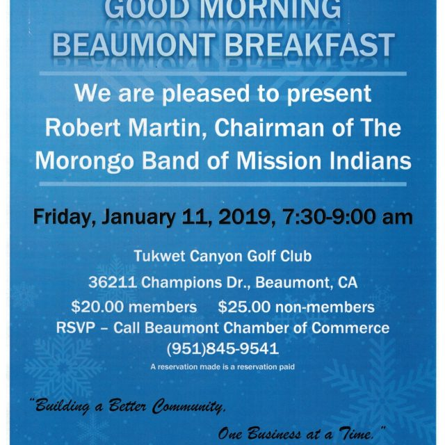 GOOD MORNING BEAUMONT BREAKFAST JANUARY 11TH FEATURING ROBERT MARTIN