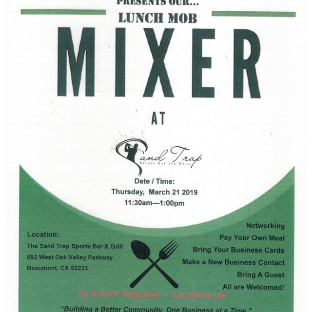 LET'S HAVE LUNCH! MARCH 21ST!