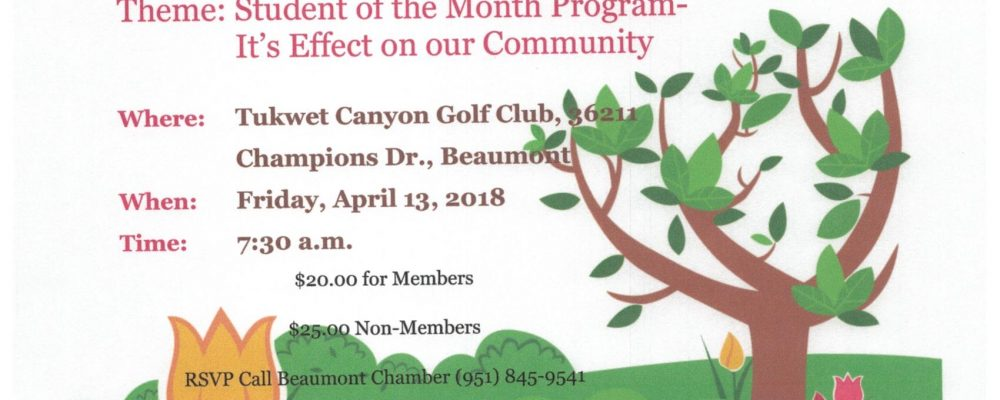GOOD MORNING BEAUMONT CHAMBER BREAKFAST April 13th