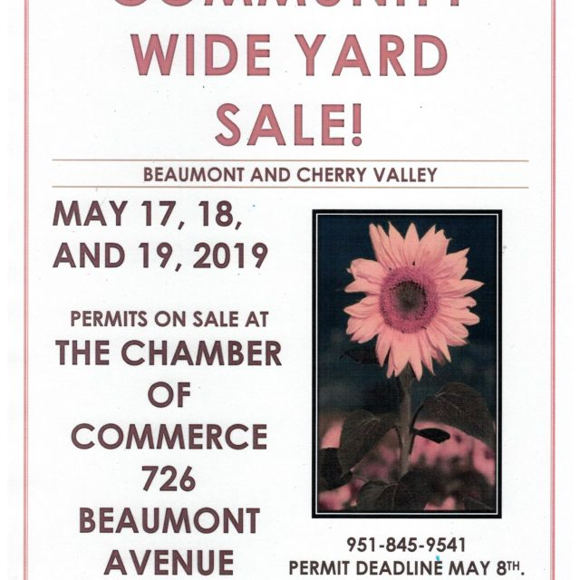 COMMUNITY WIDE YARD SALE!  MAY 17, 18, 19