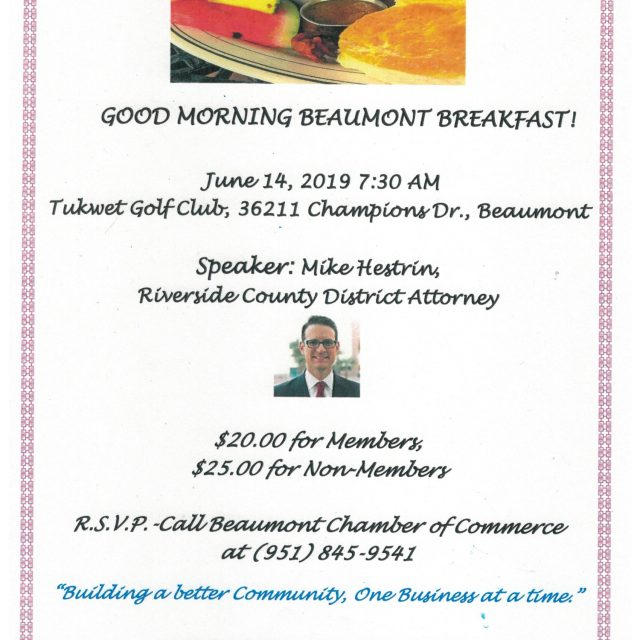 DISTRICT ATTORNEY HESTRIN – JUNE 14 – GOOD MORNING BEAUMONT