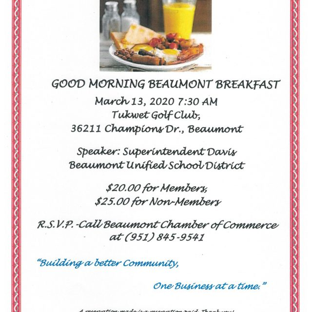 GOOD MORNING BEAUMONT    SEE YOU THERE