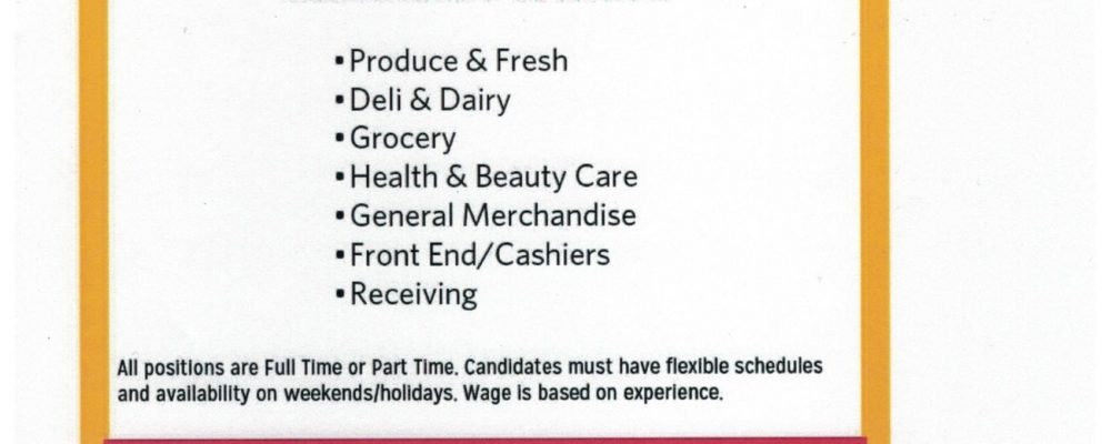JOB OPENINGS!  ACT NOW!