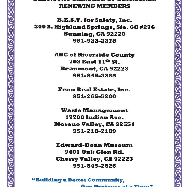 Thank You to Our New & Renewing Members