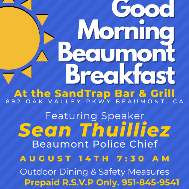 Good Morning Beaumont Breakfast! – August 14th 2020