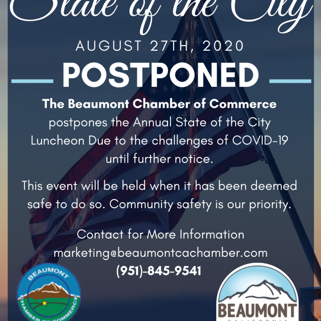 Postponed State of the City Luncheon