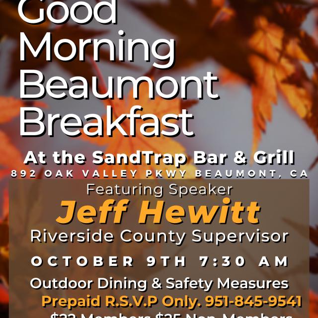 Good Morning Beaumont Breakfast – Oct 9th