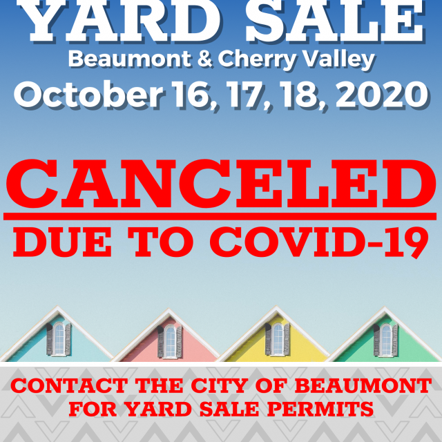 Yard Sale Canceled