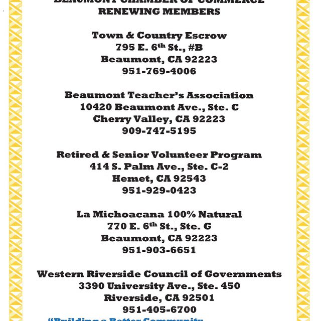 New & Renewing Members